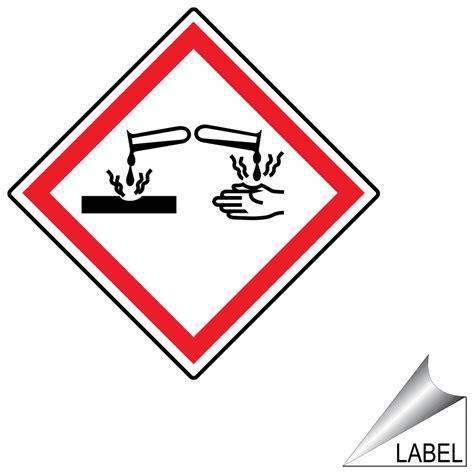 Etiketten Zeichen by Ghs Corrosion Symbol Label Ghs Label Sym 1108 Corrosive