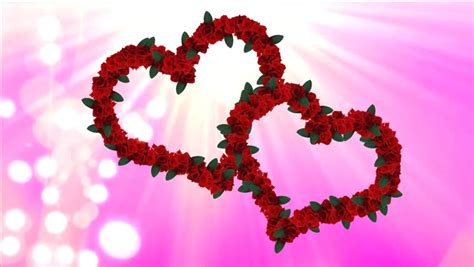 wedding video two hearts from animated roses two animated