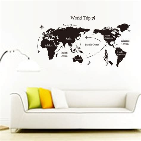 In The Garden Wall Stickers Travel The World Map Background Wall Mura Wall Stickers