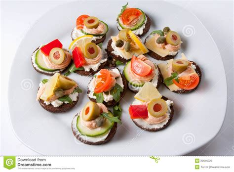 reparation canape mini canapes royalty free stock photography image 20646727