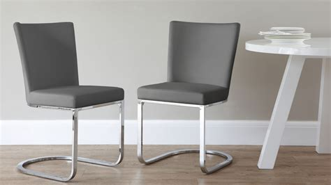 Grey And White Dining Chairs 6 Seater Dining Set Cantilever Chairs White Gloss