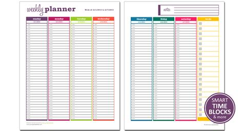 Dynamic Weekly Planner Excel Template Savvy Spreadsheets Planner Template Weekly
