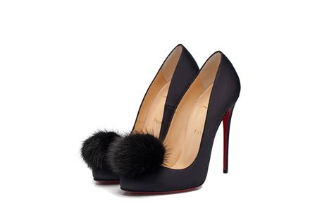 Shoes Christian Louboutin Po254 1 christian louboutin shoes topped with fur pompoms pursuitist