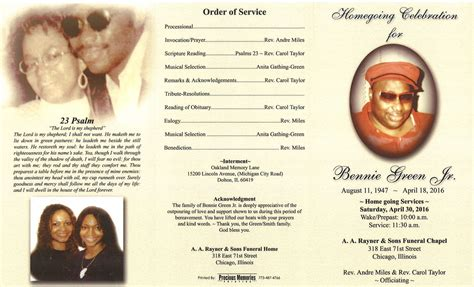 bennie green jr obituary aa rayner and sons funeral home
