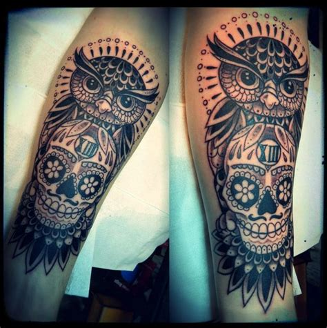 skull leg tattoo 25 best ideas about owl skull tattoos on owl