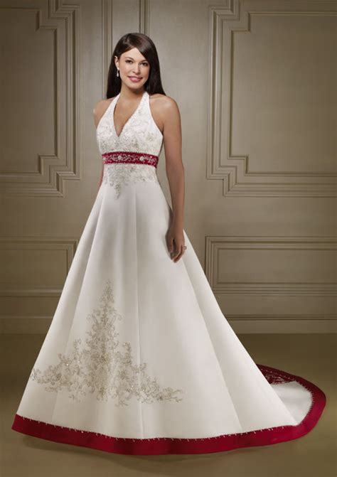 wedding dresses with color formal wedding dresses color accent wedding dress