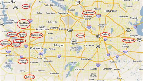 map of northern texas cities texas map