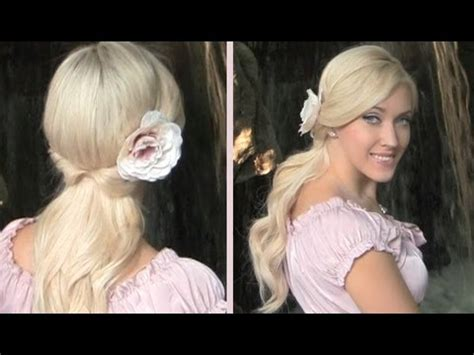 cute down hairstyles youtube cute easy everyday half up half down hairstyle with curls