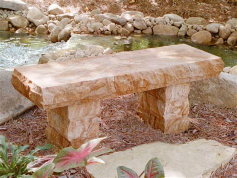 stone bench creations copper sandstone bench stone age creations ltd