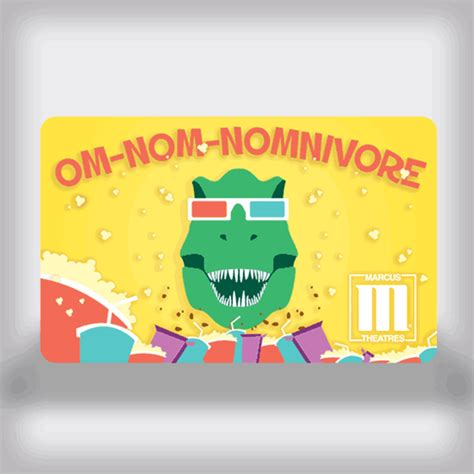 Movie Theatre Gift Card - marcus theatres entertainment movie gift card dinosaur edition