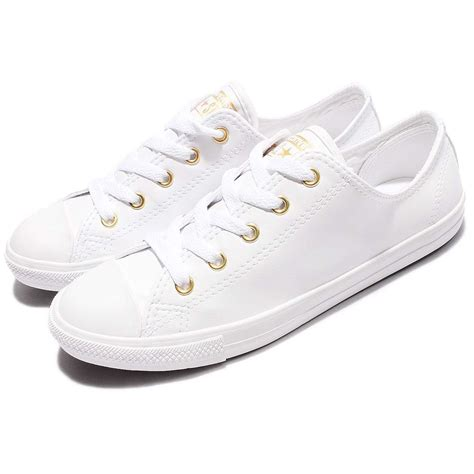 Jual Converse Chuck Leather converse chuck all dainty leather white shoes sneakers 555837c ebay