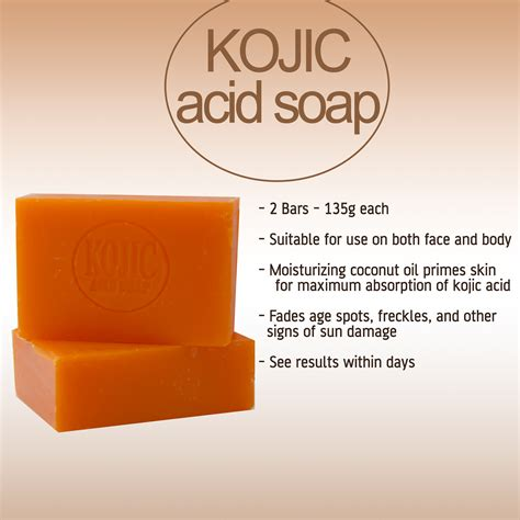 Lightening Soap kojie san skin lightening kojic acid soap 2 bars 135g