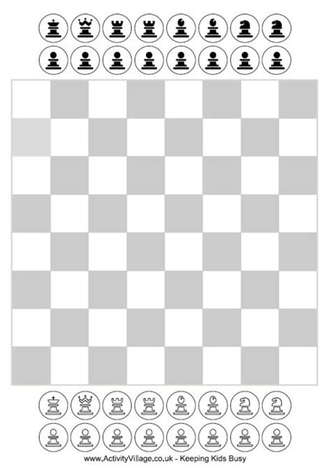 chess board template free printable chess for has these pieces and a