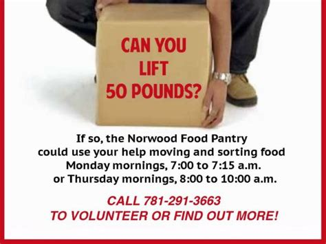 Norwood Food Pantry by Norwood Food Pantry Needs Power Norwood Ma Patch