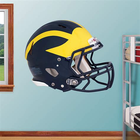 Helm Wolverine michigan wolverines helmet wall decal shop fathead 174 for
