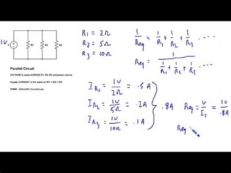 parallel circuits math problems parallel circuit math tutorial