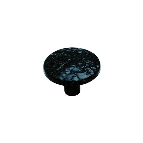 amerock 1 1 4 in black cabinet knob bp3403cb the home depot