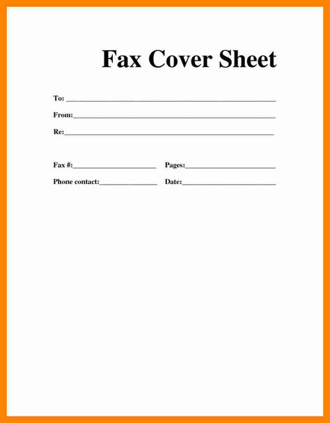 Blank Fax Cover Letter by 3 Blank Fax Cover Sheet Resume Sections