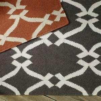 West Elm Rug Pad by Shibori Printed Cotton Dhurrie West Elm