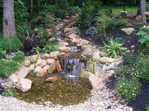 backyard stream ideas backyard stream and waterfall garden yard ideas