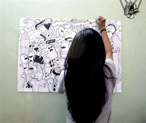 doodle on wall doodle on the wall by yessiow on deviantart