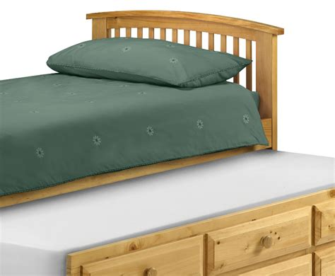 hornblower pine cabin bed with trundle bed and storage
