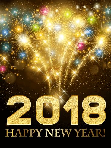 new year gifts 2018 colorful explosion happy new year card 2018 birthday
