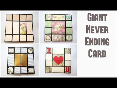 The Never Ending Or Endless Card Template by Never Ending Card Tutorial By Srushti Patil