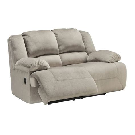 Ashley Toletta Fabric Reclining Loveseat In Granite 5670386 Fabric Reclining Sofas And Loveseats