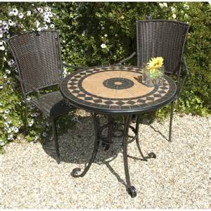 Garden Furniture Table Europa Leisure Cherbourg Garden Bistro Set Table And Two