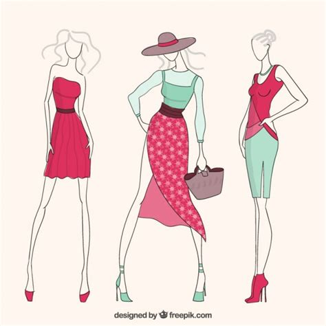 clothes vector design free download fashion girls vector free download