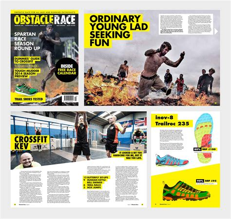 magazine layout design course obstacle race magazine rawww creative agency
