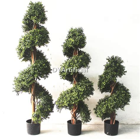 lighted outdoor topiary outdoor artificial topiary buxus spiral trees in different