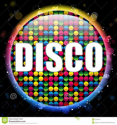 disco colors glass circle color disco stock vector image 26530611