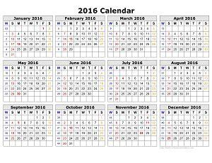 Calendar With Week Numbers 2015 2016 Calendar With Week Numbers Calendar 2017 2018