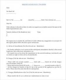 Account Transfer Request Letter To Bank Request Letter Sles