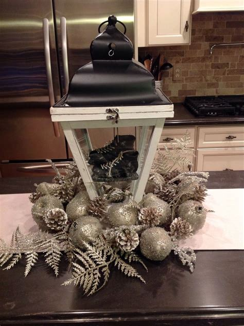 Kitchen island centerpiece.   Christmas Holiday
