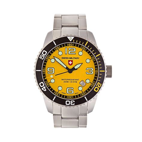 Swiss Navy 1133mb Coklat Yellow In Collection marlin quartz 2704 swiss touch of modern