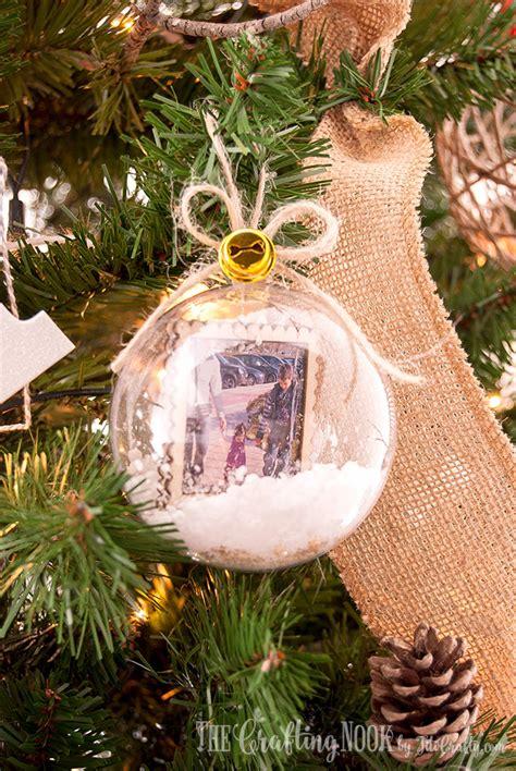 diy ornaments in memory diy memory keepsake snow globe ornaments the crafting nook by titicrafty
