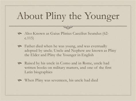 Pliny The Younger Letters