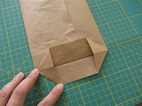 Folded Paper Bag - recycled brown paper bags diy tutorial la
