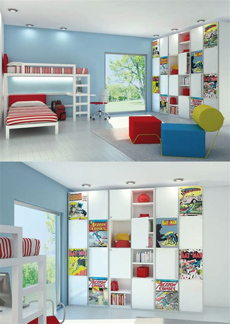 novel room comic book room interior design ideas