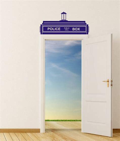 Tardis Door Sticker by Dr Who Tardis Door Top For Large Door Vinyl Wall Sticker