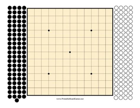 printable board game download printable go board 13x13