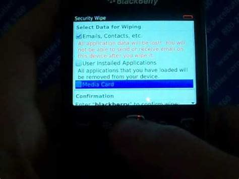reset blackberry erase all information blackberry curve 9360 master reset cell phone data erase