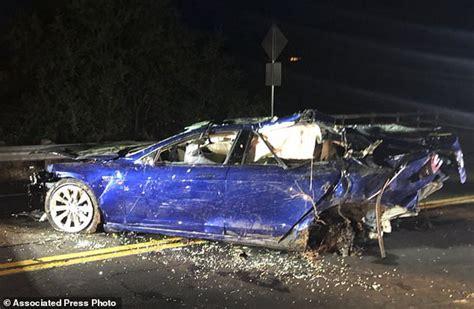 tesla off road vehicle man dies after his tesla veers off california road daily