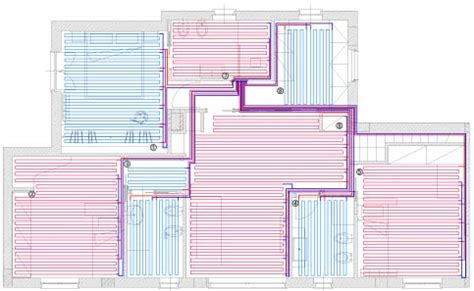 riscaldamento a pavimento schema impianto riscaldamento e raffrescamento a parete o soffitto