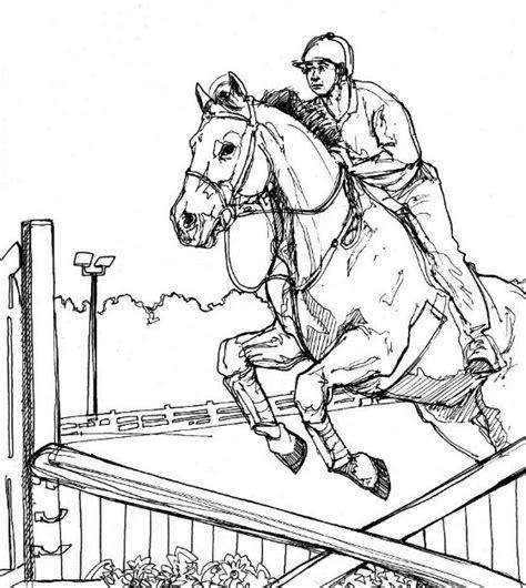 coloring pages horse and rider kleurplaten en zo 187 kleurplaten van paarden