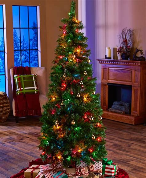 ashland pre lit windham spruce 6 ft artificial trees trees the home depot 6 foot tree