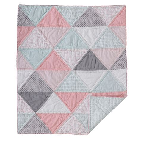 Patchwork Baby Bedding - triangle patchwork quilted crib comforter by lolli living